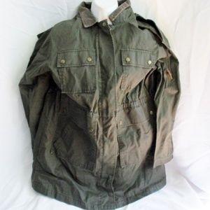 J. CREW Trench Detective Military Hood Cotton Coat